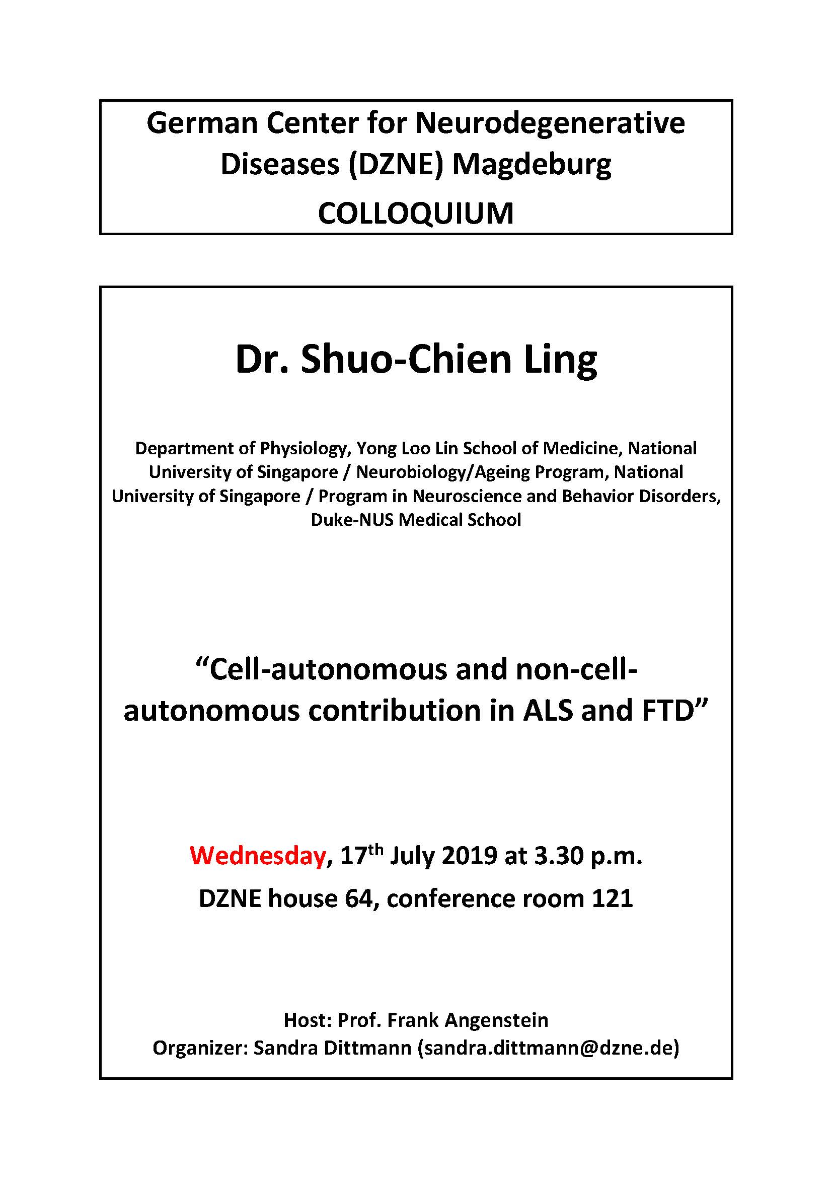 20190717 Dr. Shuo Chien Ling DZNE Colloquium