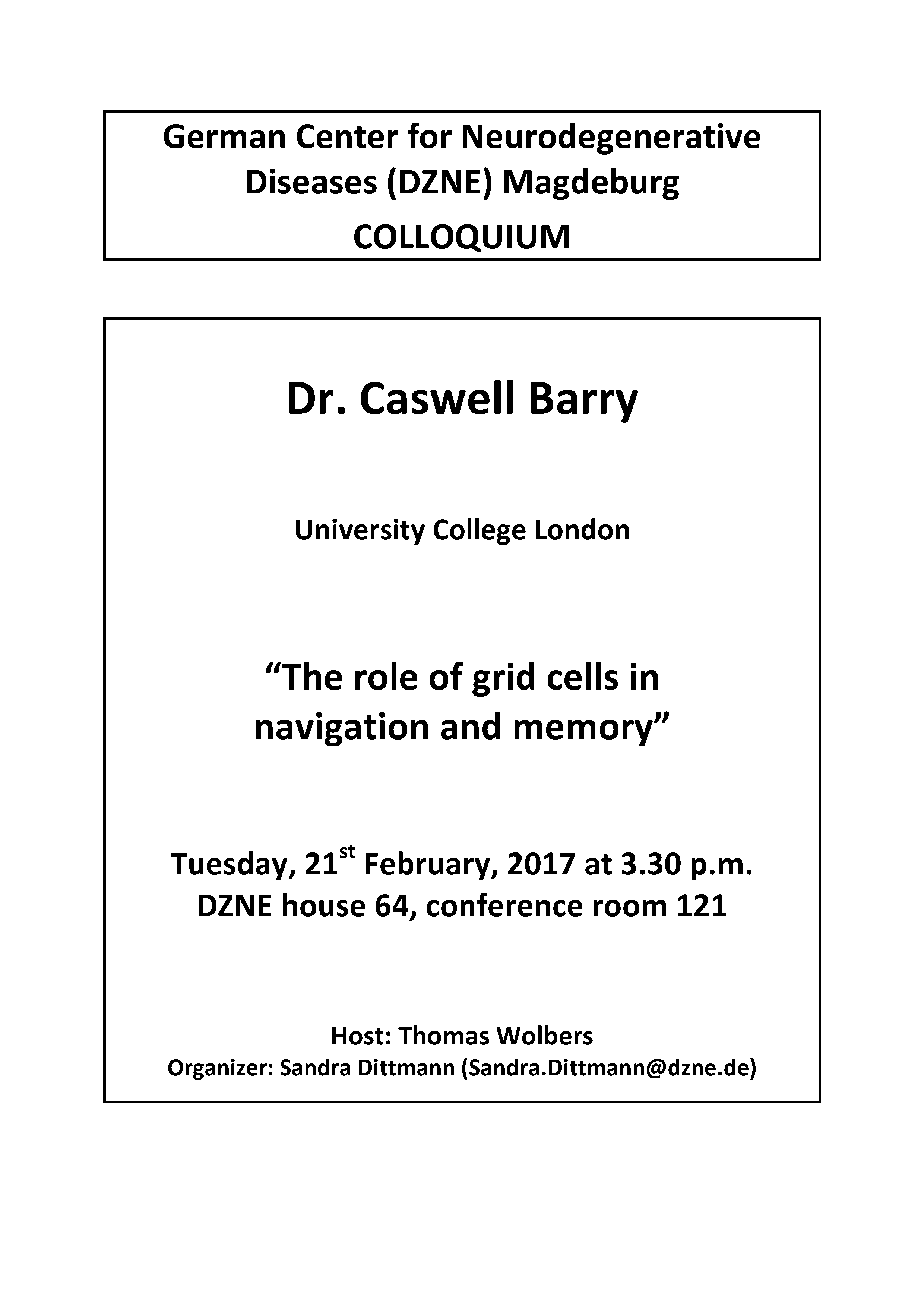 20170221 Dr. Caswell Barry DZNE Colloquium