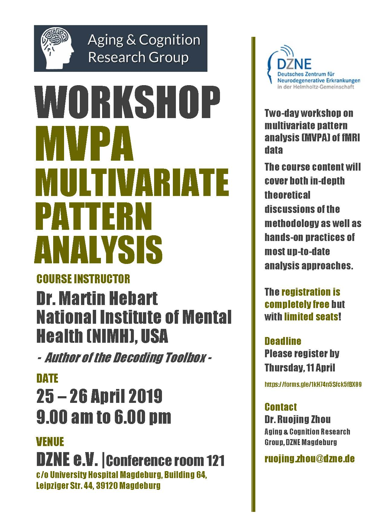 Flyer Workshop Multivariate Pattern Analysis MVPA